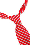 Knot red tie Stock Image