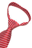 Knot red tie close up Royalty Free Stock Photography