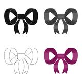 Knot, ribbon, decoration, and other web icon in cartoon style. Textile, decor, gift, icons in set collection. Stock Image
