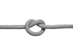 Knot on the rope. Royalty Free Stock Photo