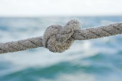 Knot on a rope Royalty Free Stock Images