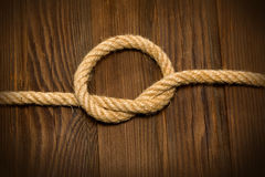Knot of the rope Royalty Free Stock Photo