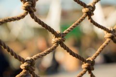 A knot rope with blurred background stock photography
