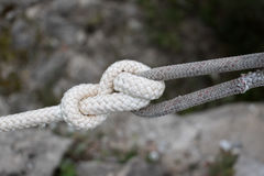 The knot on the rope Royalty Free Stock Photo