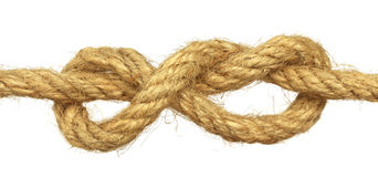 Knot on rope Royalty Free Stock Photo