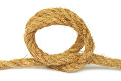 Knot on rope Stock Photo