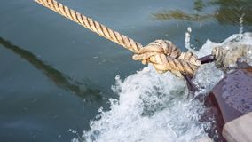 A knot of a rope stock video footage