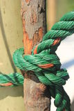 Knot. Ropes bamboo scaffolding in construction stock images