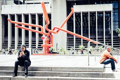 The Knot sculpture in downtown Cape Town Stock Photo