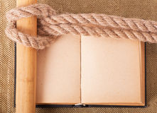 Knot sea and old book Stock Image
