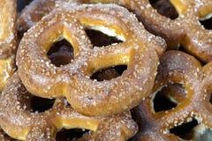 Knot shape pretzels Royalty Free Stock Photography