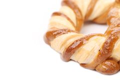 Knot-shaped biscuits. Royalty Free Stock Images