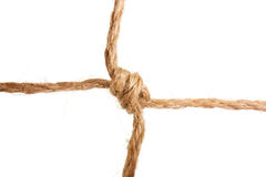 Knot tied by a rope Stock Photography
