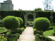 Knot topiary garden path and entrance Stock Photography