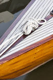 Knot of a white rope on a yacht Royalty Free Stock Photo