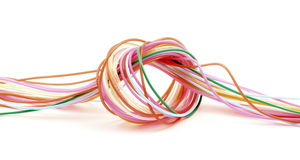 Knot wire colored plastic Royalty Free Stock Photo