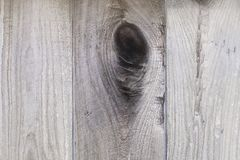 Knot in Wood Fence Royalty Free Stock Photography