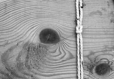 Knot on wooden Stock Images