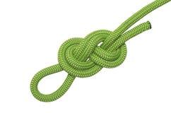 Knoten acht des blauen Seils Stockfoto