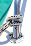 Knoten auf einem Boot Stockfoto