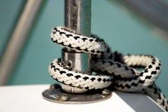 Knoten auf einem Boot Lizenzfreies Stockfoto
