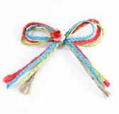 Knoten auf einem Seil getrennt auf Weiß stockfoto