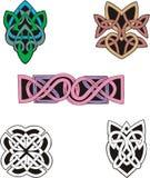 Knoten-Dekoration Dingbats u. Muster Stockfotografie