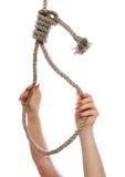 Knoten des Henkers Stockfoto