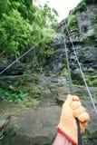 Knoten des Seils für das Klettern Lizenzfreies Stockfoto