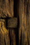 Knoten im Holz Stockbild