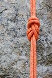 Knoten mit acht Seilen auf felsigem Hintergrund Lizenzfreies Stockbild