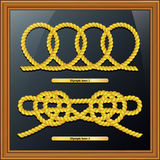 Knoten, Seeknoten, Marineknoten, lokalisiert Lizenzfreie Stockfotos