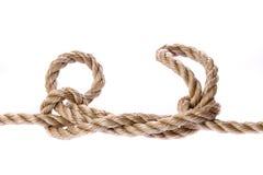 Knoten Sie getrennt auf Weiß Lizenzfreies Stockbild