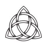 Knoten Triquetra oder der Dreiheit Hand gezeichnete Punktarbeit alt vektor abbildung