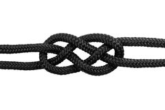 Knots. Carrick bend #1 Royalty Free Stock Photos