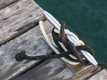 Knots, cleats and ropes. Nautical rope Royalty Free Stock Photos