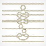 Knots and loops on ropes Royalty Free Stock Photography