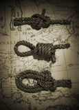 Knots and Map Stock Photo