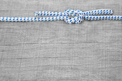 Knots nautical background. Rigging knots nautical - background wooden maritime Royalty Free Stock Photography