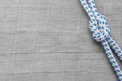 Knots nautical background. Rigging knots nautical - background wooden maritime Stock Photography