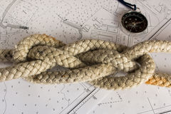 Knots Nautical. Nautical knots photographed on chart royalty free stock photography