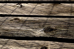 Knots in weathered wood slat Stock Photography