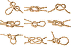 Knots on white Stock Photography
