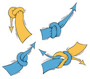 Knotted arrows. Concept Stock Photography