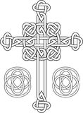 Knotted celtic cross royalty free illustration