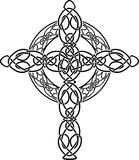 Knotted celtic cross stencil Royalty Free Stock Photos