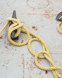Knotted cleat Stock Photography