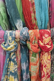Knotted colorful textiles Stock Images