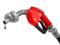 Knotted gas pump nozzle. Stock Images