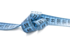 Knotted measuring tape Stock Photos